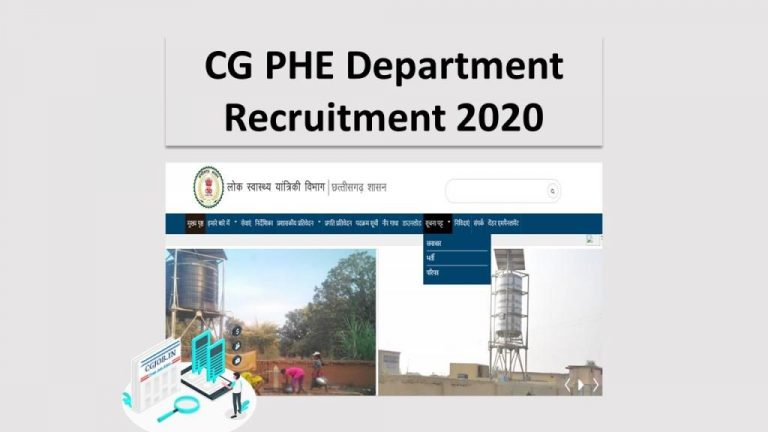 cg phe department recruitment-2020