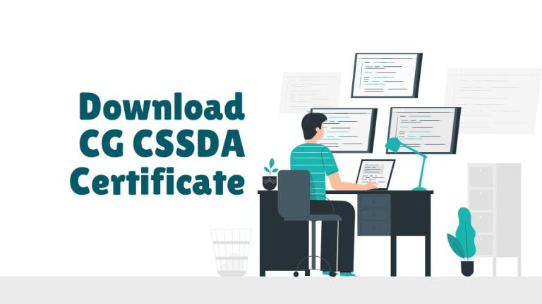 Download CG CSSDA Certificate